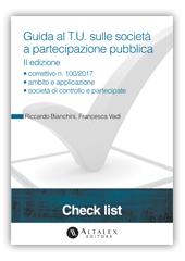 Check List - Guida al T.U. sulle società a partecipazione pubblica