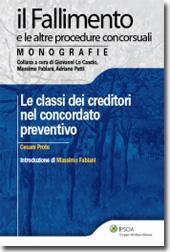 Classi dei creditori nel concordato preventivo