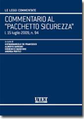 """Commentario al """"Pacchetto Sicurezza"""""""