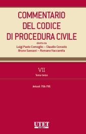 Commentario del Codice di Procedura Civile - Vol. VII - Tomo III (Artt. 705-795 c.p.c.)