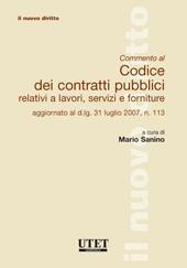 Commento al Codice dei contratti pubblici