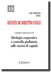Ideologia corporativa e controllo giudiziario sulle società di capitali