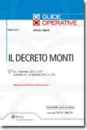 Il Decreto Monti