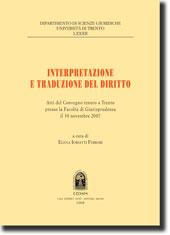 Interpretazione e traduzione del diritto