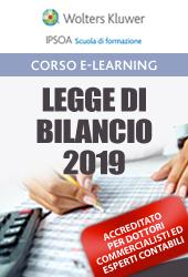 Legge di bilancio 2019 - Codice CNDCEC: D.7.1; MEF: C.4.1