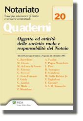 Oggetto ed attività delle società: ruolo e responsabilità del Notaio