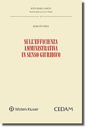 Sull'efficienza amministrativa in senso giuridico