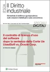 eBook - Il contratto di licenza d'uso del software dopo la sentenza della Corte Ue UsedSoft vs. Oracle