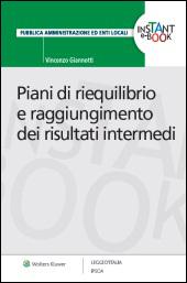 eBook - Piani di riequilibrio e raggiungimento dei risultati intermedi